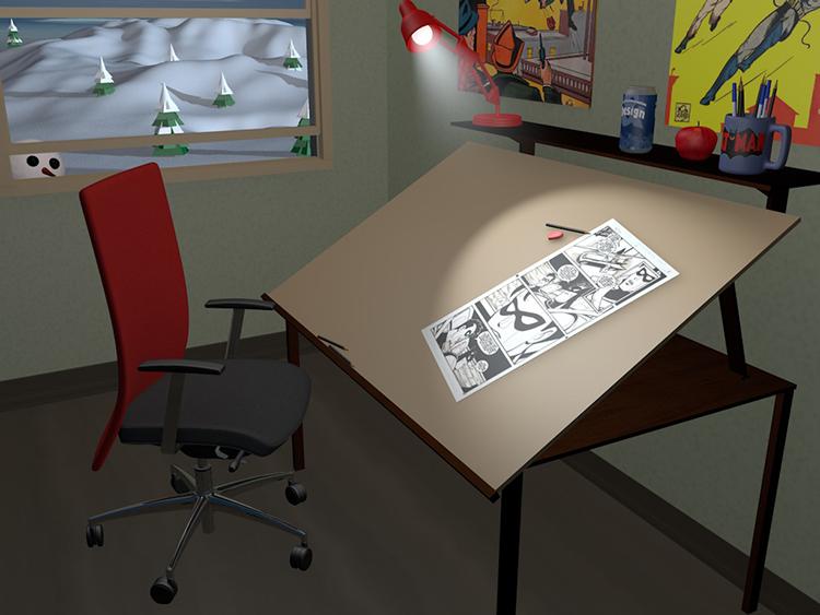 desk still life