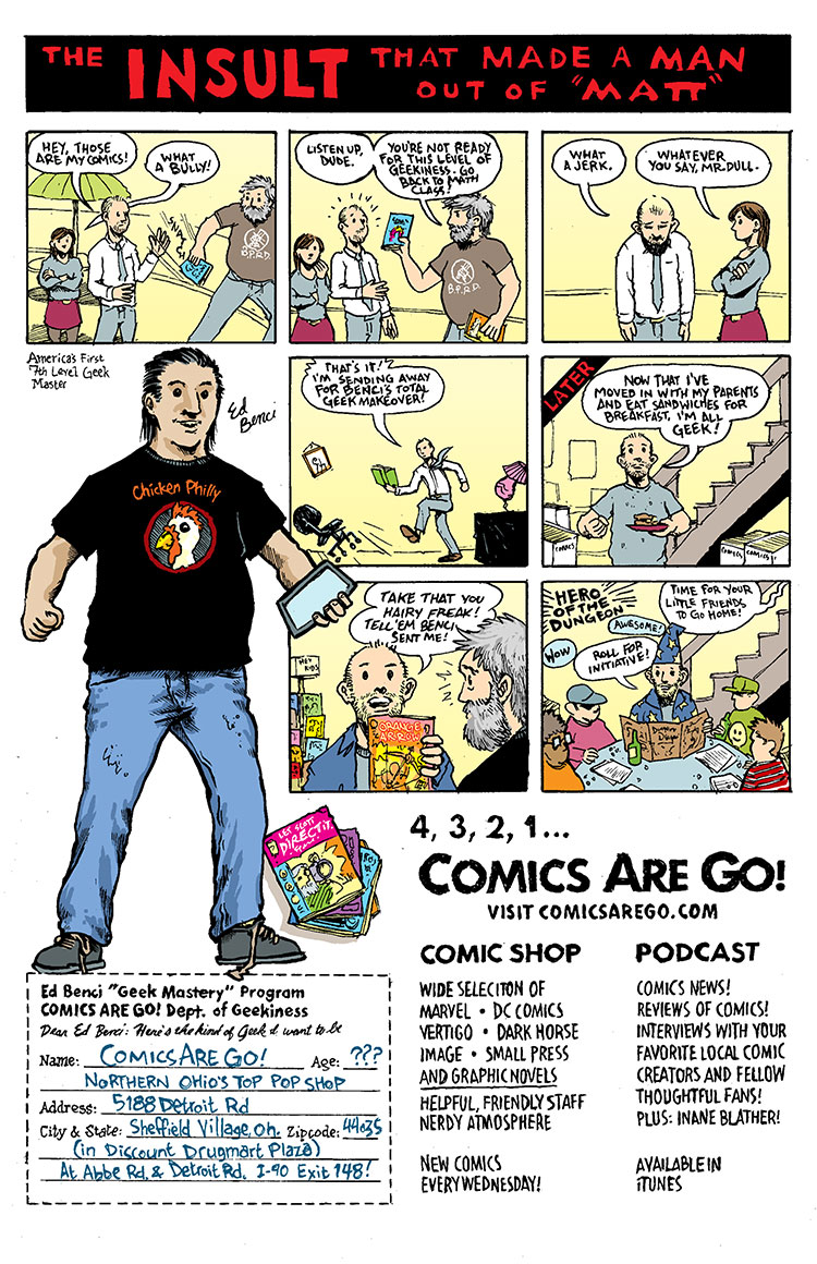 comics are go ad