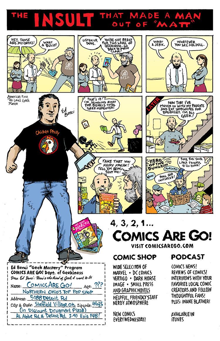 comics are go ad