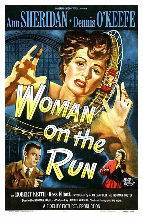woman on the run movie poster