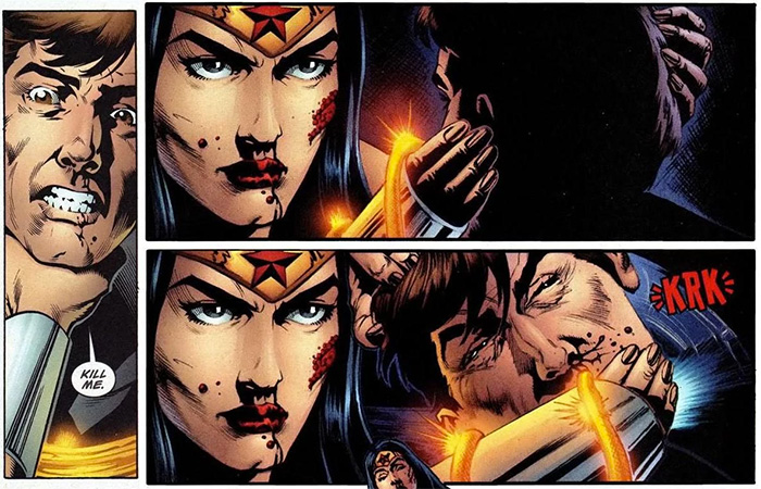 Wonder Woman Offs Maxwell Lord from Dirk's Wonder Woman Tribute