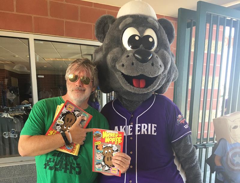 Mickey Moose Comic Book 1 at Lake Erie Crushers