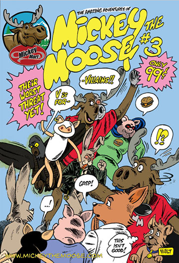 Mickey Moose Comic #3 cover